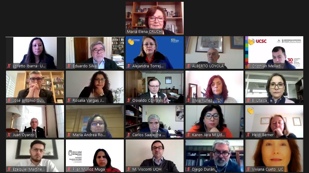 Cuenta Pública del Consejo de Rectores destaca el trabajo colaborativo de sus universidades en el marco de la crisis social y sanitaria