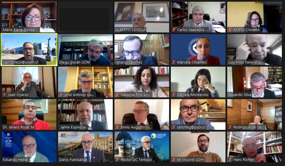 Consejo de Rectores da la bienvenida a las nuevas autoridades de la U. Católica de la Santísima Concepción y la U. Austral de Chile